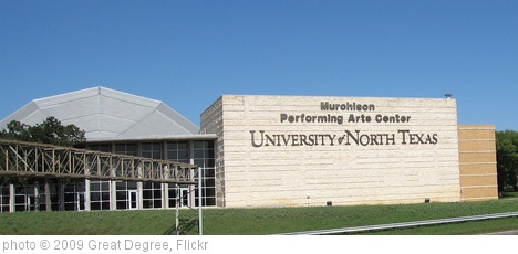 'University of North Texas Performing Arts Center' photo (c) 2009, Great Degree - license: http://creativecommons.org/licenses/by-sa/2.0/