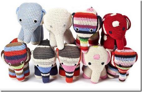 Doudous crochet Eléphants