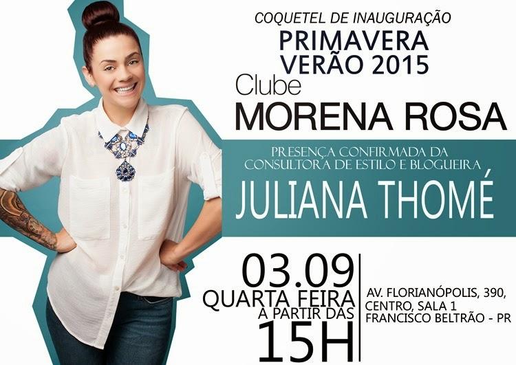 CONVITE CLUBE MORENA ROSA
