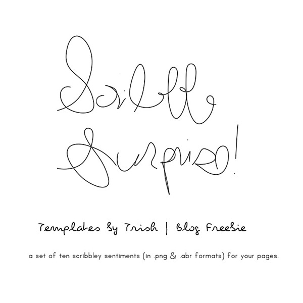 scribble surprise freebie - templates by trish