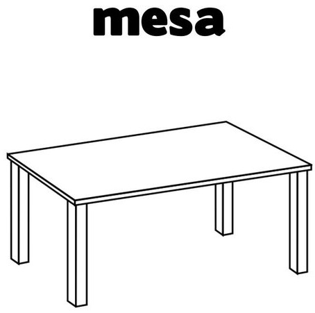 Dibujos para colorear mesas for Mesa de dibujo con luz