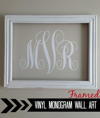 framed monogram art