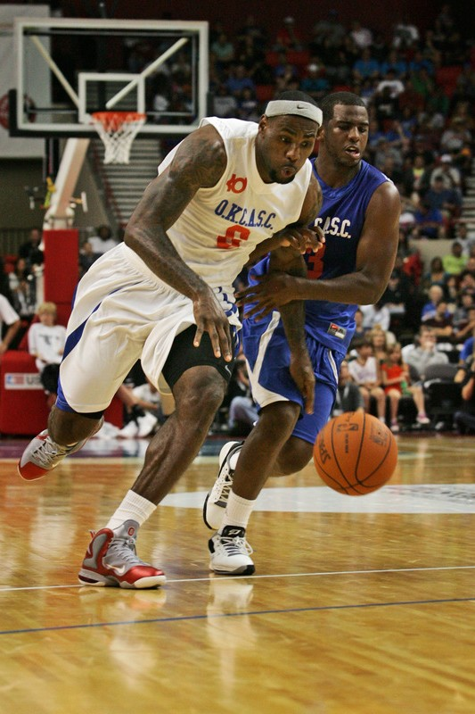 lebron james exhibition 111023 okc 04 LeBron Debuts LeBron 9 Ohio State PE at OKC Charity Game