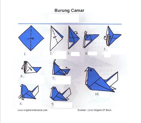 Langkah-langkah membuat Origami Burung Camar
