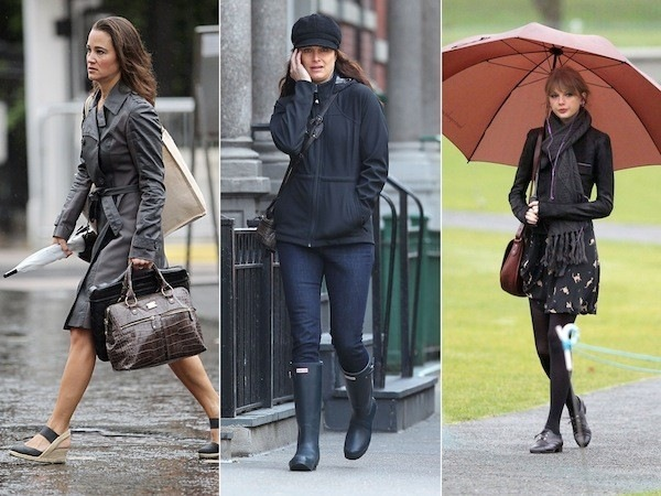 CELEBRITIES-IN-RAIN-GEAR
