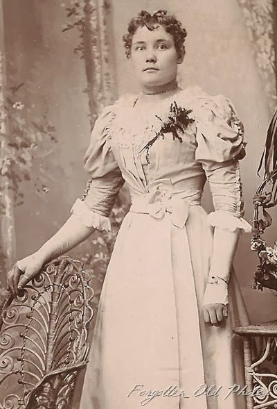 Cabinet Card Might be a bride Duluth Antiques