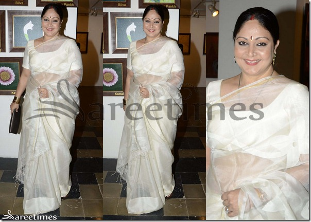 Off_White_Plain_Georgette_Saree