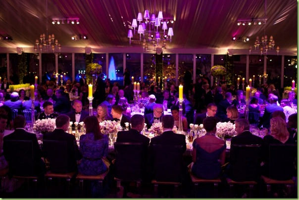 charity ball at the big white tent