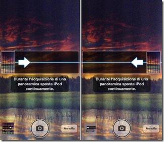 Scattare una foto panoramica da destra a sinistra e viceversa