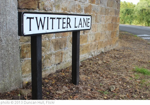'Tweeting down Twitter Lane, Waddington, Lancashire' photo (c) 2013, Duncan Hull - license: http://creativecommons.org/licenses/by/2.0/