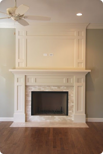 The fireplace design from Thrifty Decor Chick