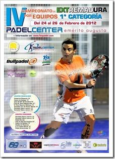 IV Campeonato de Extremadura por Equipos de 1ª Categoría los días 25 y 26 de Febrero celebrándose en PADEL CENTER Emérita Augusta.