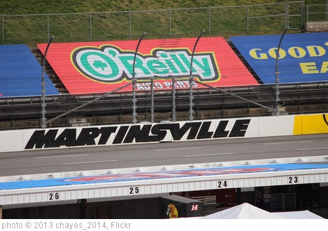 'Martinsville logo on the backstretch, 2013 STP Gas Booster 500' photo (c) 2013, chayes_2014 - license: http://creativecommons.org/licenses/by-sa/2.0/