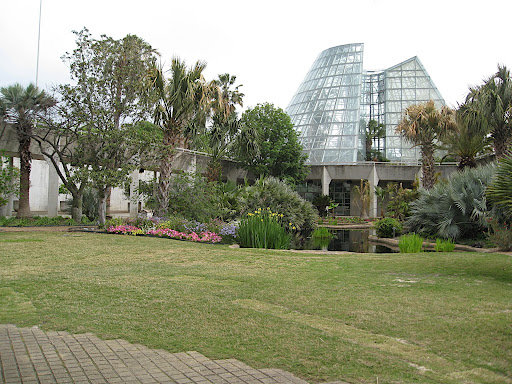 This sunken garden can only be accessed through the various conservatory galleries.