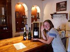 Fantasizing buying this 3L bottle of wine after a delicious tasting at El Estecto winery, Cafayate.