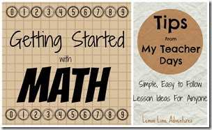 Getting Started With Math at Lemon Lime Adventures