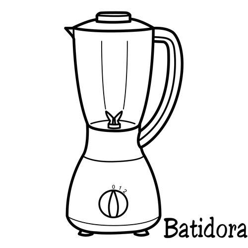 Colorear dibujos de batidoras for Como dibujar una cocina
