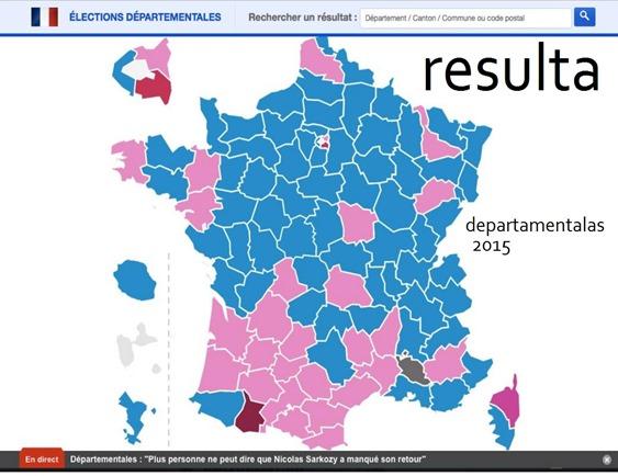mapa de las resultas de las Departamentalas 2015