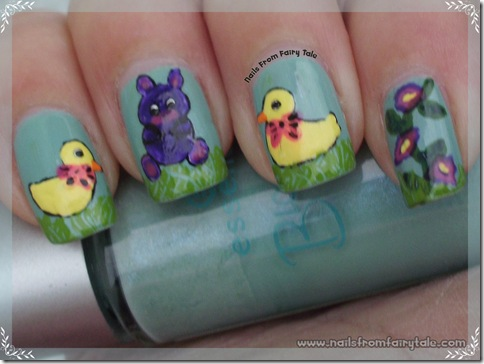 easter bunny with chickens