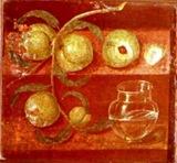 Bodegn melocotones - Herculano  - Museo Npoles
