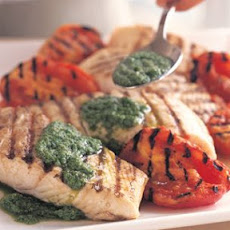 Grilled Halibut with Arugula Pesto