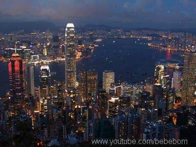 Anoitecer em Hong Kong