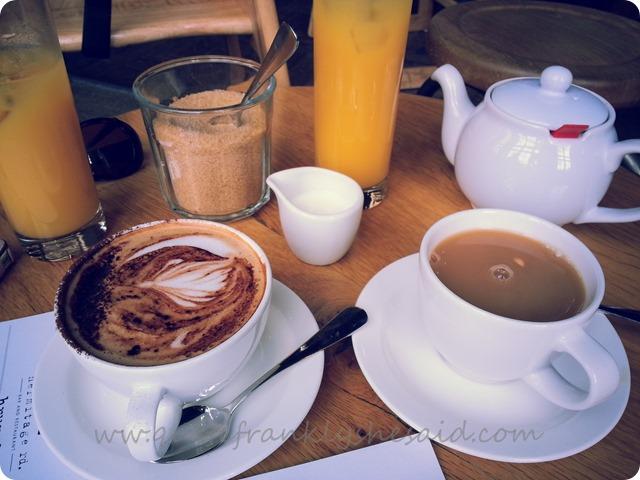 Hermitage Rd Bar Restaurant Sunday Brunch tea coffee