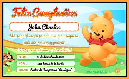Tarjeta de Cumpleaños de Winnie the Pooh – listo para imprimir en casa