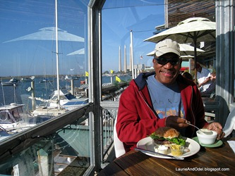 Odel at lunch in Morro Bay