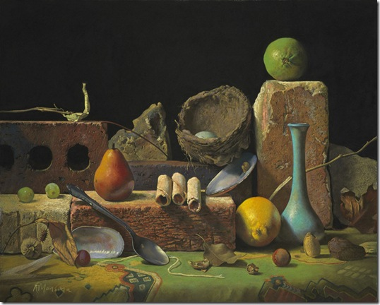 Still-Life-with-a-Nest-and-Bricks-Ron-Monsma-ENKAUSTIKOS