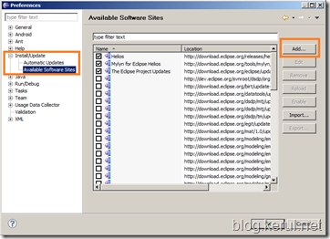 Android IDE: Installing ADT11 on Eclipse