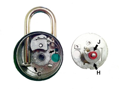 Sheva Apelbaum Combo Lock Inside Parts
