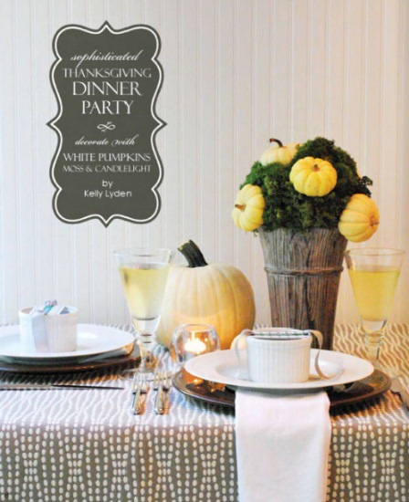 Sophisticated Thanksgiving dinner party ideas from The Party Dress magazine, holiday issue