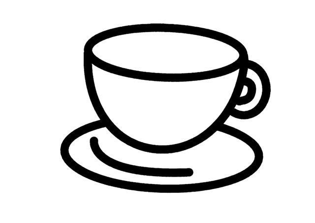 Cup coloring pages for Cup picture for colouring