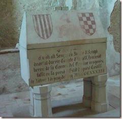 Sepulcro del conde de Urgell - castillo de Játiva