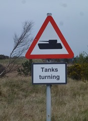 tanks turning