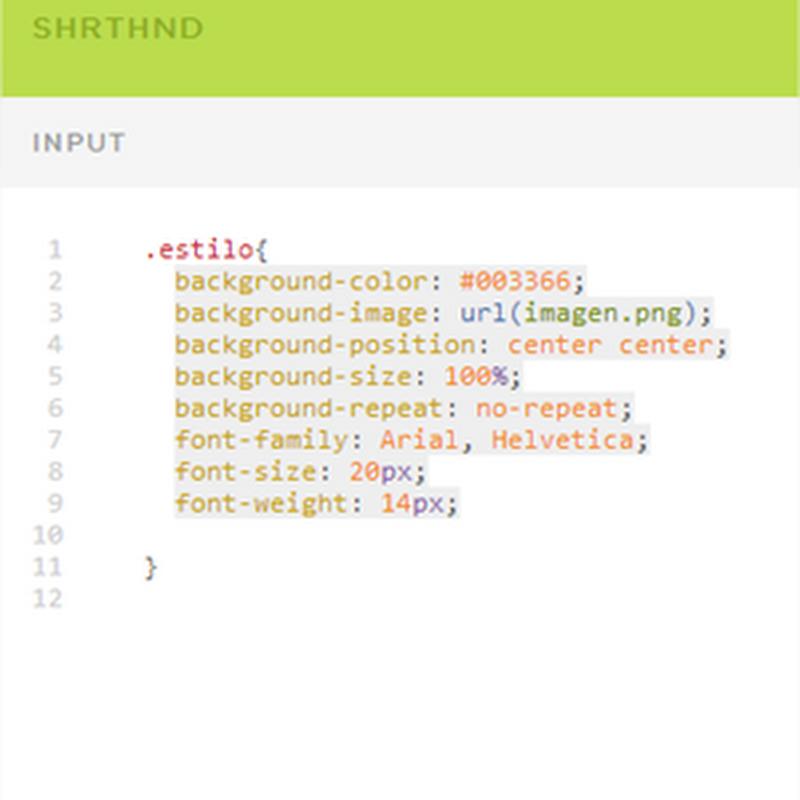 Shrthnd, para reducir código CSS agrupando valores de propiedades