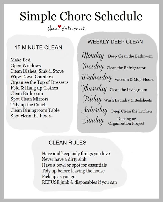 Simple Chore Schedule.