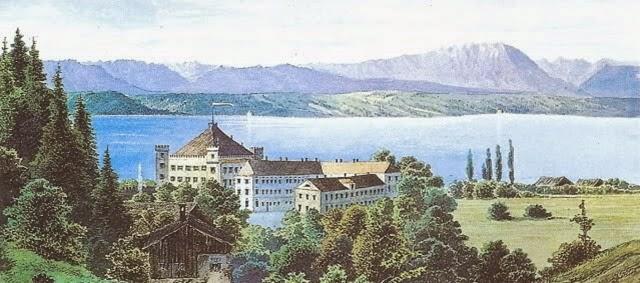 Castillo de Possenhofen, al lado del lago Starnberg.