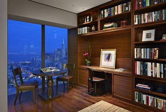 Diseño contemporáneo sala de estudio de lujo