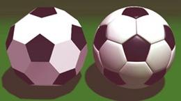 Pallone da calcio e icosaedro.