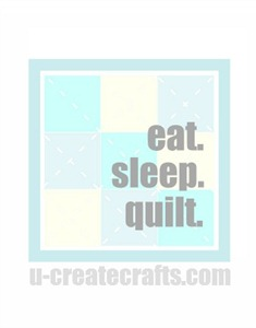 Eat. Sleep. Quilt. {blue version}