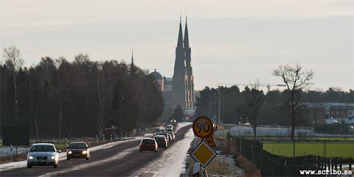 Domkyrkan och Slottet från väg 600