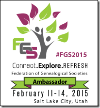 The Ancestry Insider is an official FGS Conferrence Ambassador