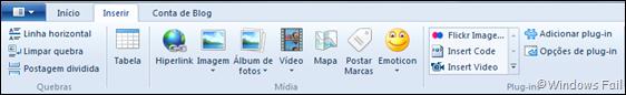 Utilizando plug-ins no Windows Live Writer