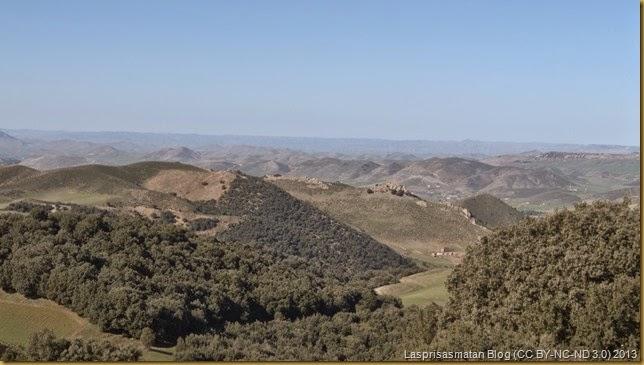 Valle de Tigrira con sus conos volcánicos