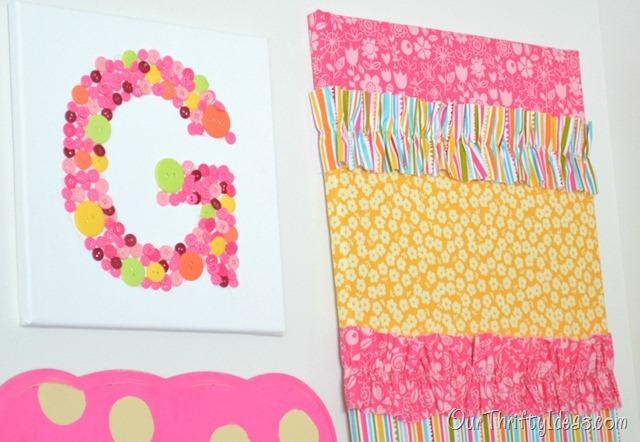 Our Thrifty Ideas   DIY Little Girl's Room Decor   #DIY #Decor #Girls