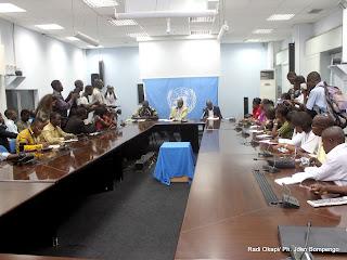 Point de presse hebdomadaire de Nations Unies animé le 17/08/2011 par Amadou Ba. Radio Okapi/ Ph. John Bompengo