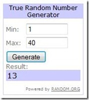 My Little Details - Random Winner