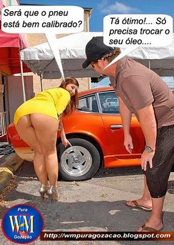 FLAGRANTE - Será que o pneu tá bem calibrado - Tá ótimo! Só precisa trocar o óleo